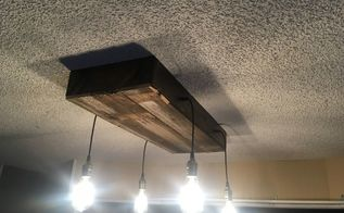 rustic kitchen light fixture, TA DAAAA