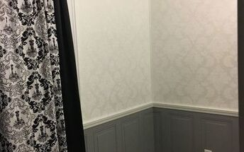 bedroom remodel, Curtains of Damask and sheets