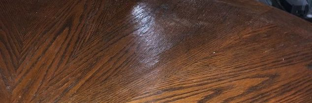 q i am flipping a round table with decorative veneer on top but it s