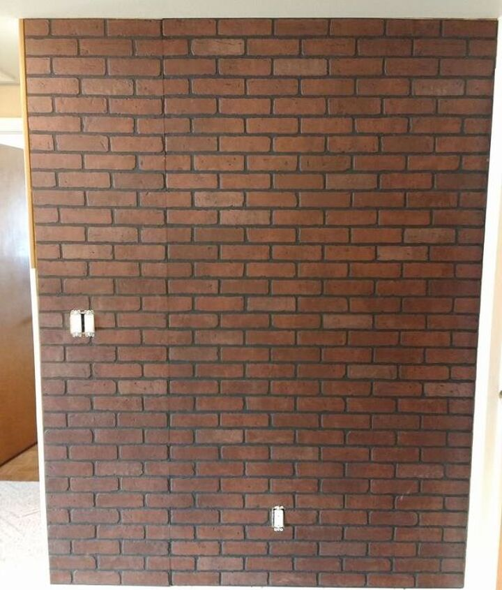 another faux brick wall with real grout
