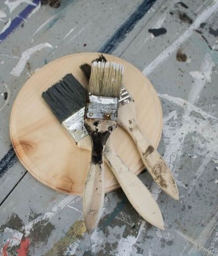 how to make a paint brush wreath