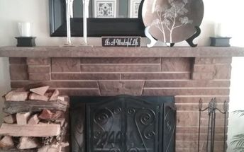 q how can i make over my stone brick fireplace