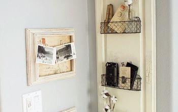 DIY Farmhouse Style Chicken Wire Basket Shelf