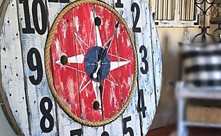 nautical spool clock