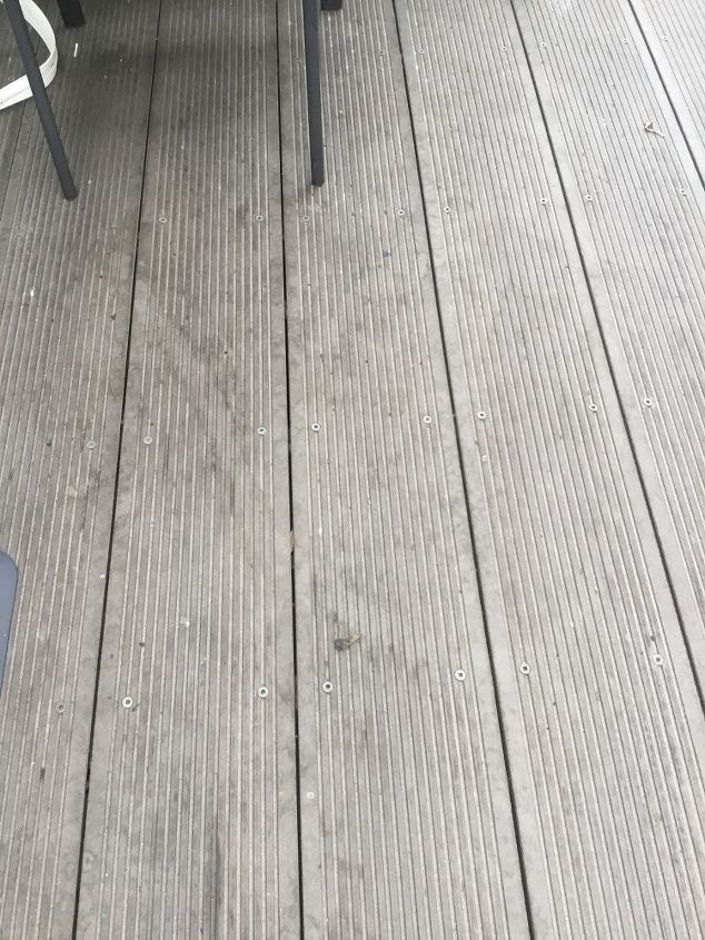q can i seal or paint my composite fake timber decking