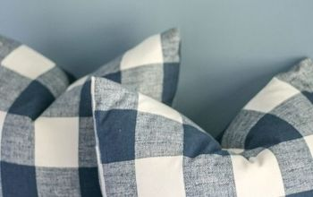 Make Two Throw Pillow Inserts - From One Bed Pillow!