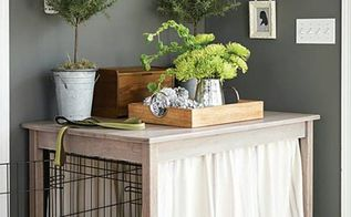 beautify your dog s crate with this simple table build