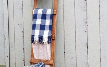 DIY Wooden Blanket Ladder - Only $4 & 30 Minutes - Beginner Level