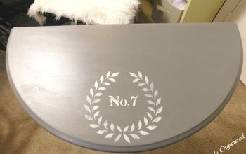 table upcycle using only paint