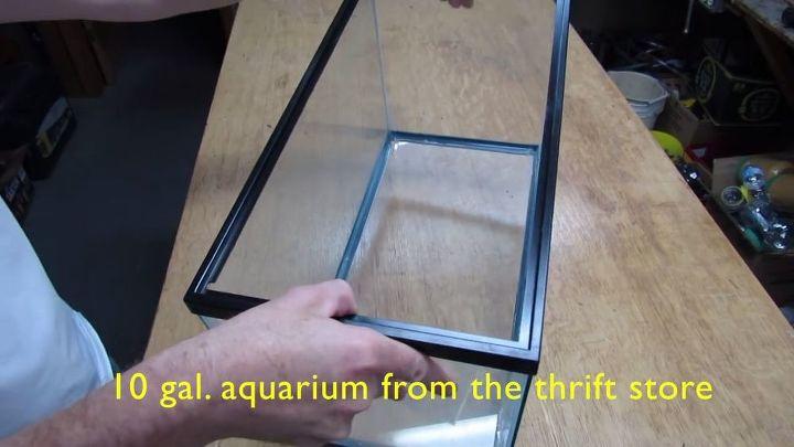 squirrel proof bird feeder made from a 10 gallon aquarium