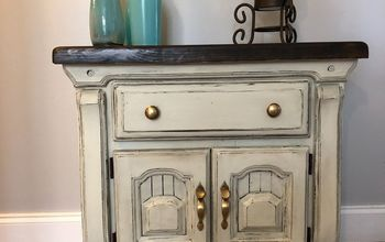 outdated nightstand to old farmhouse chic