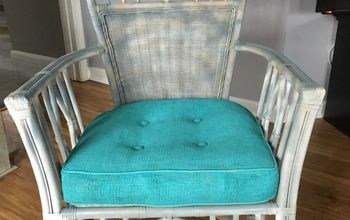 wicker chair and cushion do over