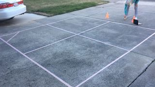 , This is our latest project 4 square court 12 foot by 12 foot
