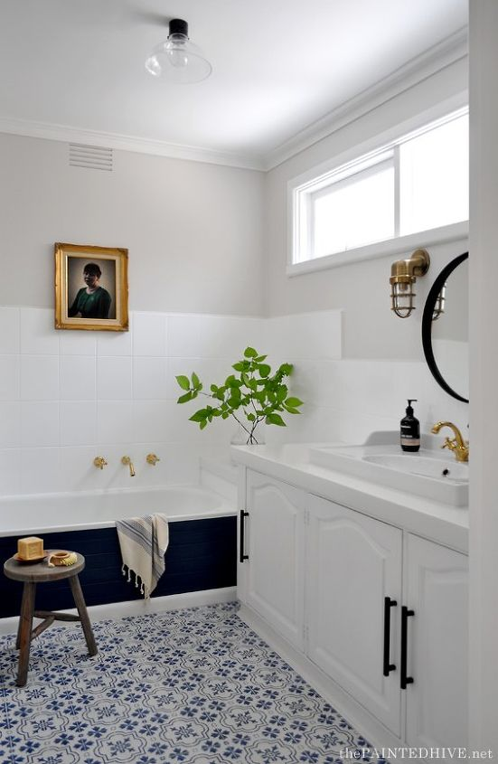 paint is power bathroom before after