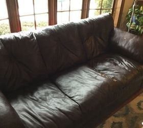 Q How To Reupholster Leather Sofa With Severe Peeling Of Leather Surface