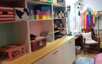 Quick Attic  Craft Room Makeover