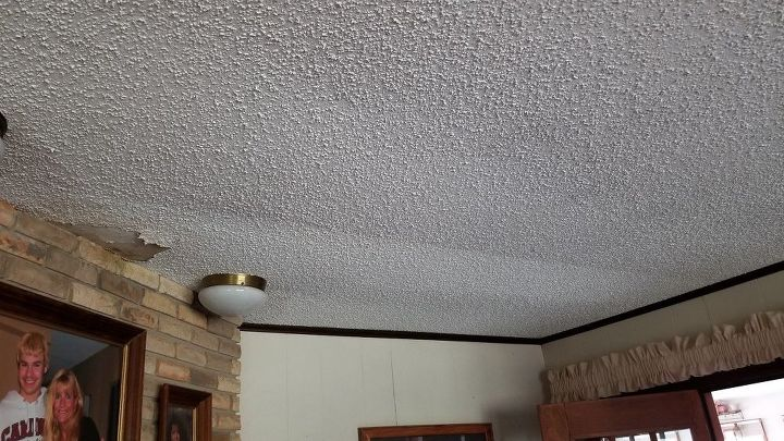 q the roof vent leaked at one time causing the ceiling to bow slightly