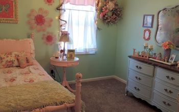 A Pastel Shabby Chic Inspired Girl's Bedroom Makeover On A Budget