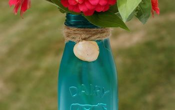 how to create a sea glass vase