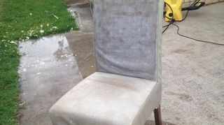 , Using a high pressure washer To take off all bonded leather