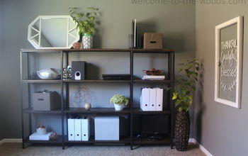 Modern Industrial Office Shelving IKEA HYLLIS Hack
