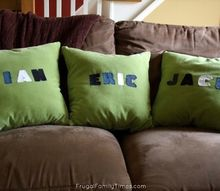 how to make cute denim personalized name pillows they can be no sew