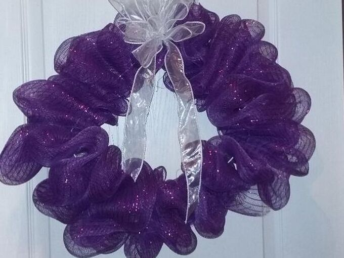 purple wreath for spring quick easy