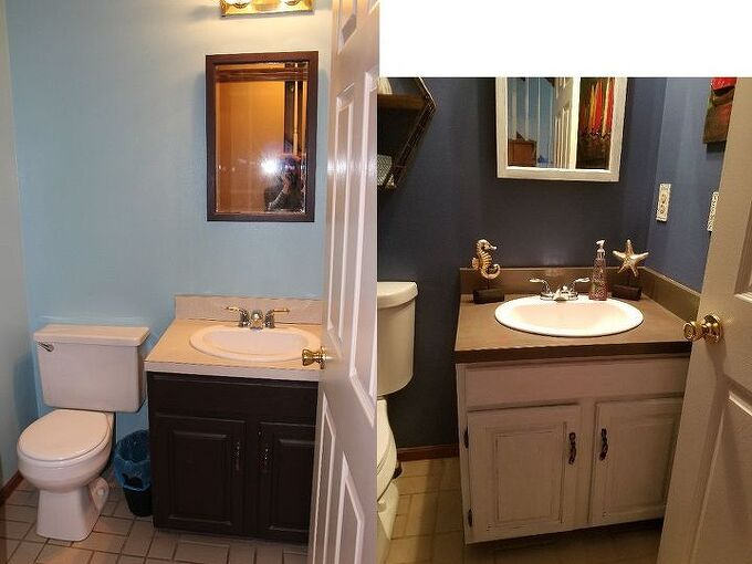 updated guest bath diy with just a little paint