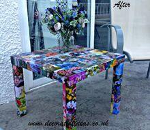 how to decoupage an ikea lack table