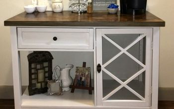 From Beat Up Kitchen Island to Beautiful Coffee Station