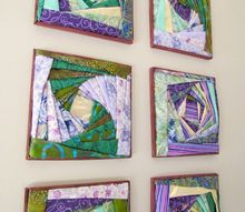 how to make beautiful wall art with fabric