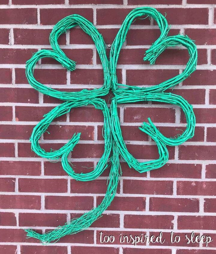 diy grapevine st patrick shamrock wreath