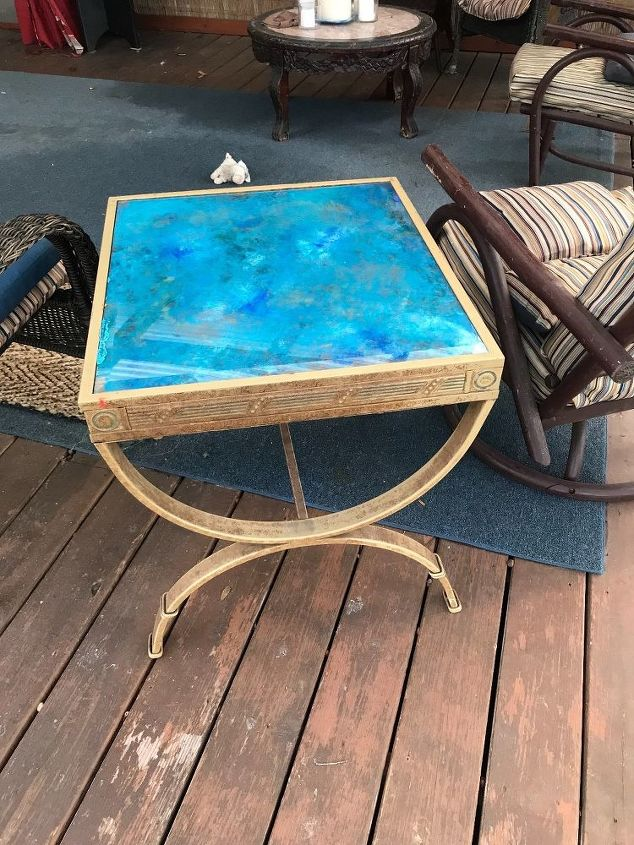 updated glass end tables