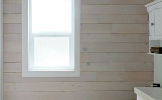 wood plank wall installation