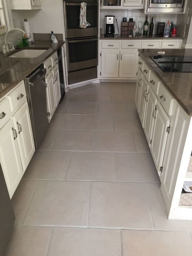 Paint Grout and Kitchen Tile Floor | Hometalk