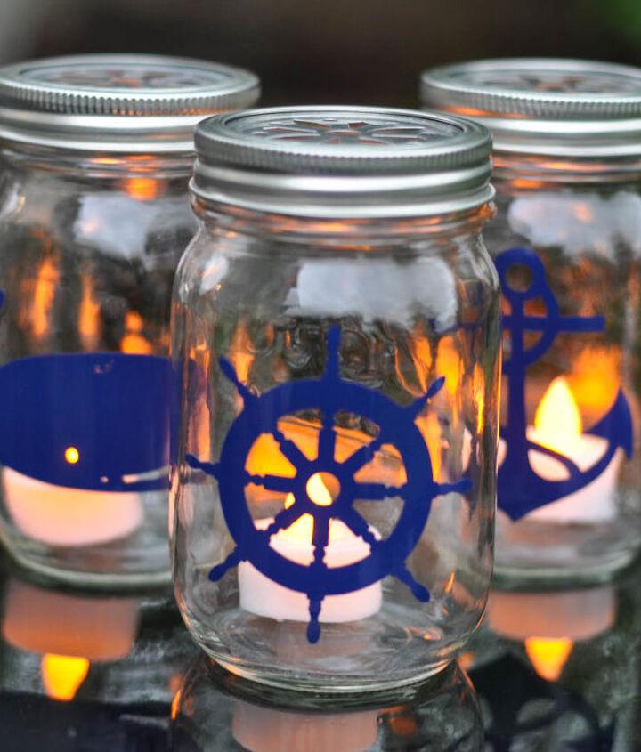 s the best nautical home decor ideas you can try, Nautical Mason Jar Lanterns