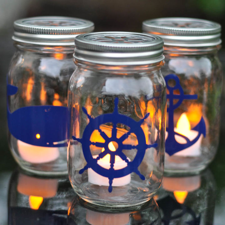 s the best nautical home decor ideas you can try, Nautical Mason Jar Lanterns