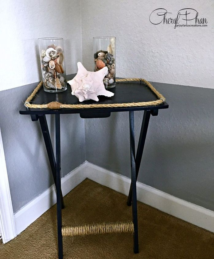 s the best nautical home decor ideas you can try, Nautical TV Tray Makeover