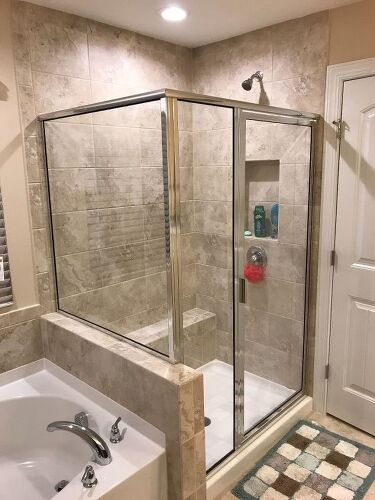 Whats The Best Way To Clean The Glass Shower Door And Walls In My N