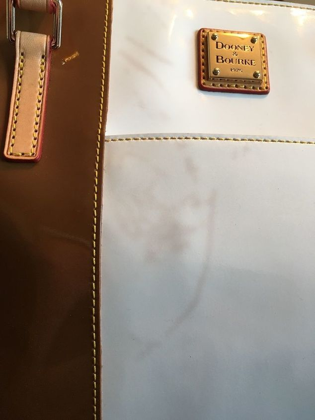 q how to get a stain out of white patent leather