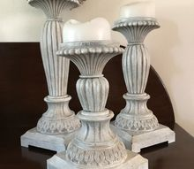 old world to time worn candlestick makeover