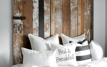 how to fake a faux barn door headboard