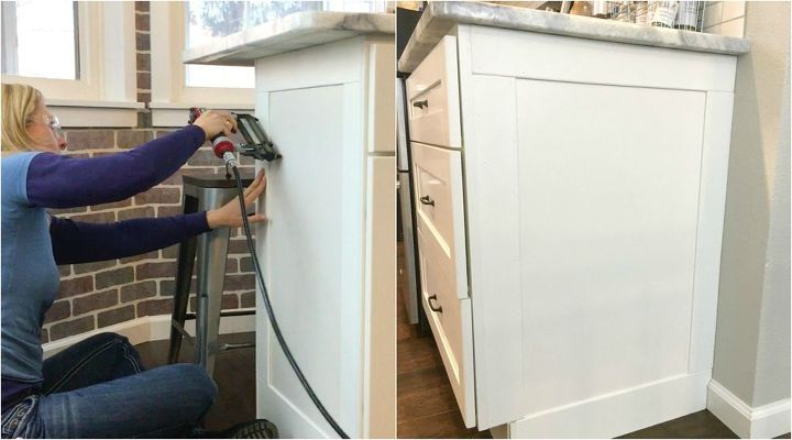 how to add farmhouse cabinet trim 15 character add to kitchen