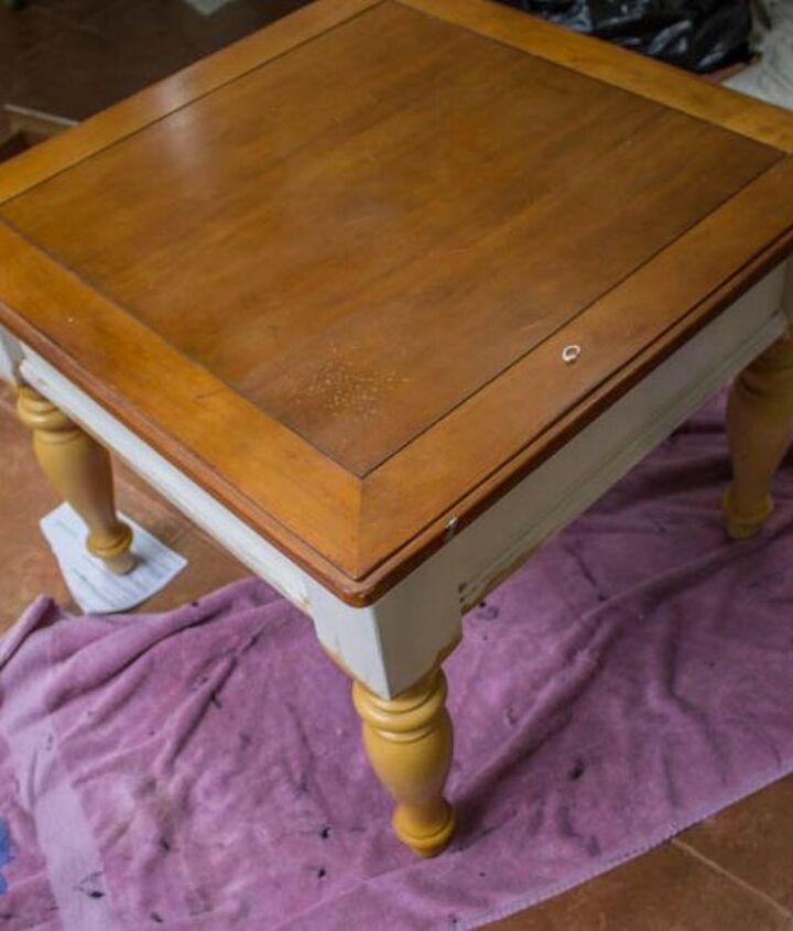farmhouse end table makeover the barn wood finish