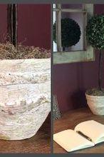 venetian plaster pots