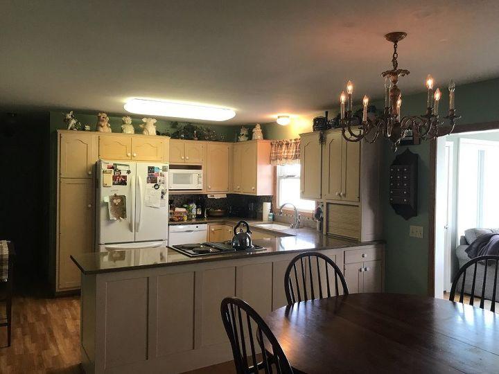 Ideas for replacing a kitchen fluorescent light fixture. | Hometalk