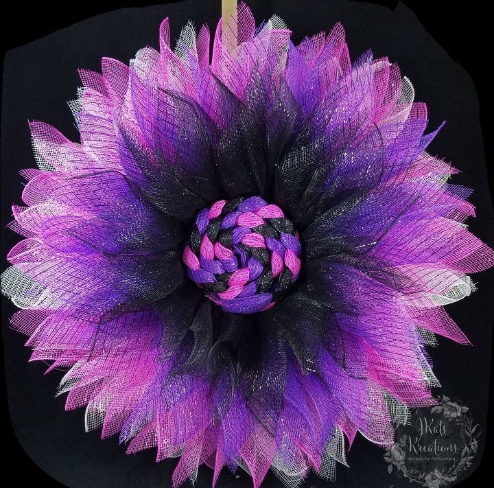 Black, Purple, Pink, and White