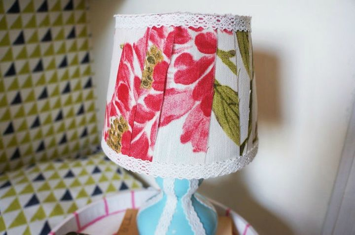 s don t throw away your fabric scraps before you see these 13 ideas, Turn it into a new lamp shade