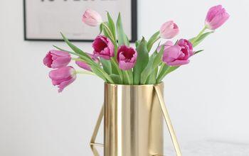 a simple trick to make your tulip arrangement pop