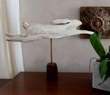 pallet wood folk art rabbit